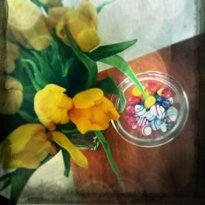 Tulpen und Eier
