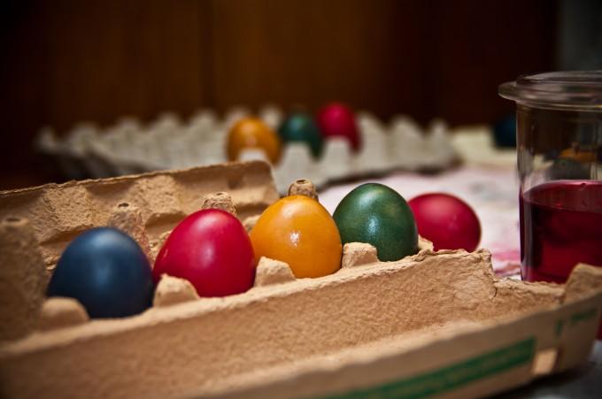 Ostereier färben