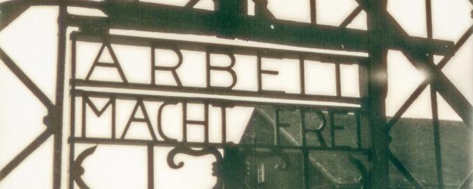 KZ Gedenkstätte Dachau auf Polaroid